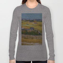 1888-Vincent van Gogh-The harvest-73x92 Long Sleeve T-shirt