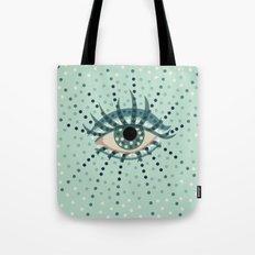 Dots And Abstract Eye Tote Bag