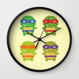Teenage Mutant Ninja Kawaii Turtles Wall Clock