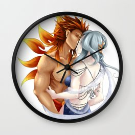 Sun god Moon goddess Wall Clock