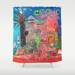 Akashic Library Shower Curtain