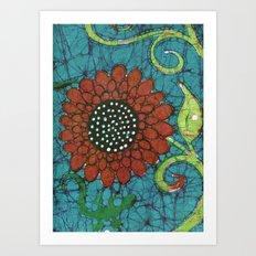 Kate's Flower Batik Art Print