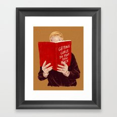 Studying Framed Art Print
