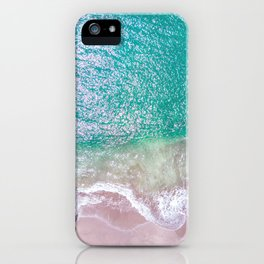 Green ocean wave's iPhone Case