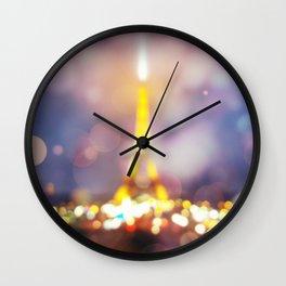 Abstract Eiffel Tower Wall Clock