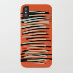 Orange Abstractions iPhone X Slim Case