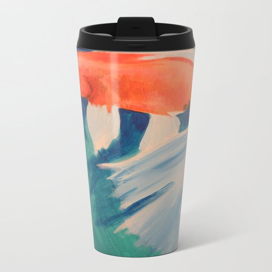Acrylic Koi FIsh Metal Travel Mug