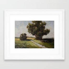 copse of trees Framed Art Print