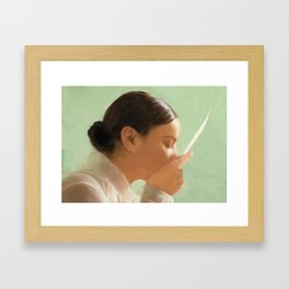 Sealed with a kiss Framed Art Print