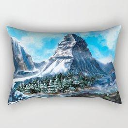 Where the Mountain Kailash Meets Matterhorn Rectangular Pillow