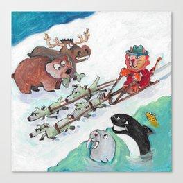 Alaska Cats Canvas Print