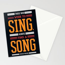 Lab No. 4 Who Wish Swedish Proverb Famous Singer Quotes Stationery Cards