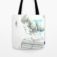 diamond Tote Bags featuring Diamond by TamSanSerif