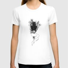 Pure Morning SMALL Womens Fitted Tee White