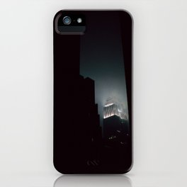 Night Lights Empire State Fog and Snow iPhone Case