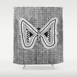 Hopeful Butterfly Shower Curtain