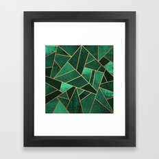 Emerald and Copper Framed Art Print
