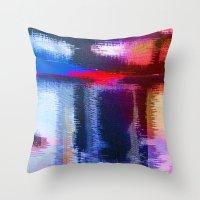 fabric Throw Pillows featuring Splat Fabric by Good Sense
