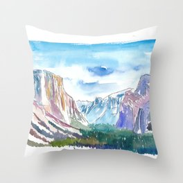 USA National Park Yosemite El Capitan Throw Pillow