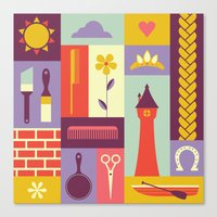 rapunzel Canvas Prints featuring Rapunzel by Ariel Wilson