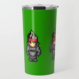 8bit Solid Snake Travel Mug