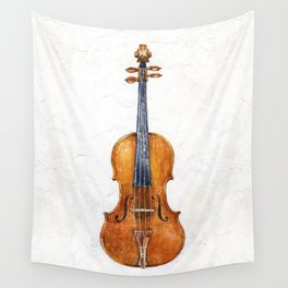 Violin (watercolor on textured background) Wall Tapestry