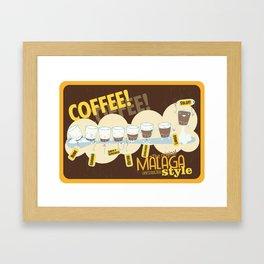 Málaga Coffee Framed Art Print