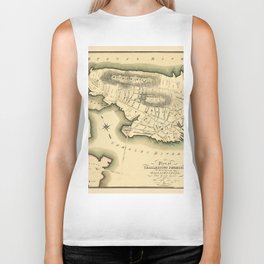 Map Of Boston 1818 Biker Tank