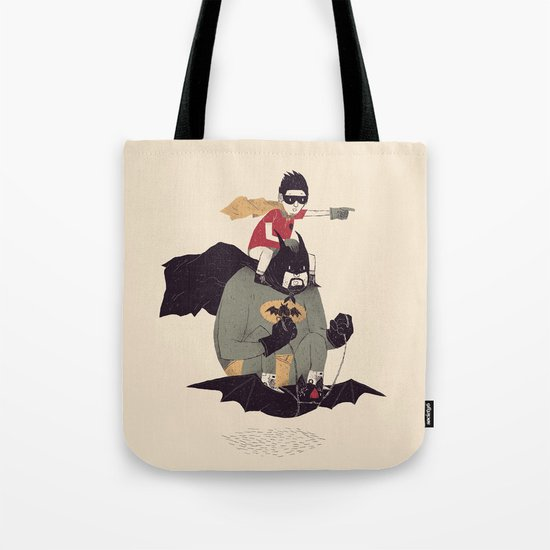 to the batmobile! Tote Bag