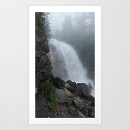 foggie waterfall  Art Print