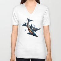 rogue V-neck T-shirts featuring Rogue Dolphins by Alexa Shamshoian