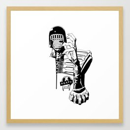 Judge death Framed Art Print