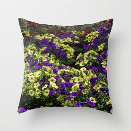 Waves of Petunias Throw Pillow