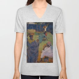 """Paul Gauguin """" Among the mangoes at Martinique"""" Unisex V-Neck"""