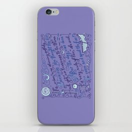 The Walrus and the Carpenter, Stanza 2 iPhone Skin