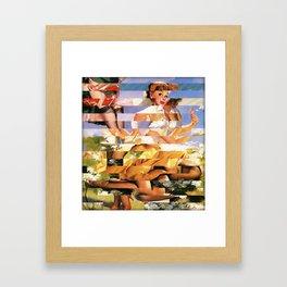 Glitch Pin-Up Redux: Xena Framed Art Print
