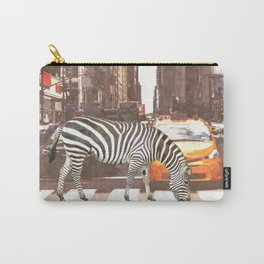 Zebra in New York City Carry-All Pouch