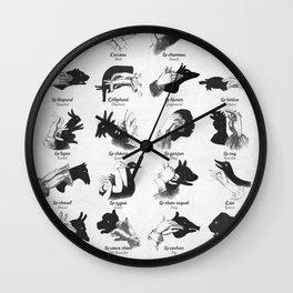 Hand Shadows Wall Clock