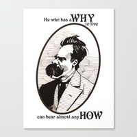 nietzsche Canvas Prints featuring Nietzsche by Scott Davidson