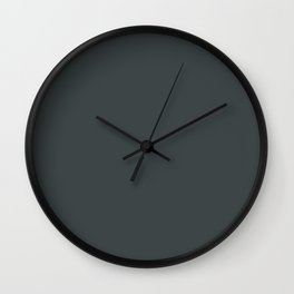 PPG Glidden Dark As Night (Dark Charcoal Gray) PPG14-05 Solid Color Wall Clock