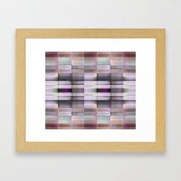 BLOCK STRIPES PATTERN I Framed Art Print
