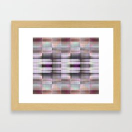 BLOCK STRIPES PATTERN I Framed Art Print