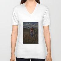 virgo V-neck T-shirts featuring Virgo by Viggart