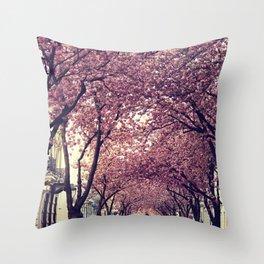 sakura four Throw Pillow