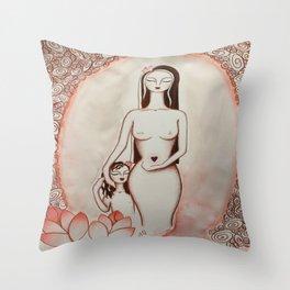 Ninfea * Lotus Flower Throw Pillow