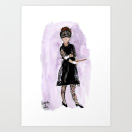 Audrey and Givenchy Fashion Illustration Art Print