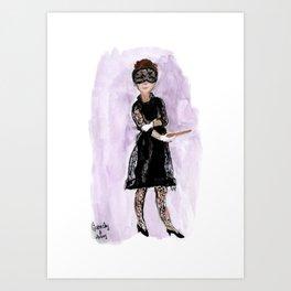 Audrey and Givenchy Fashion Illustration Art Print