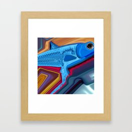 Swimming against the grain Framed Art Print