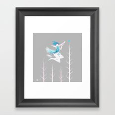 Little Blue Bird Framed Art Print