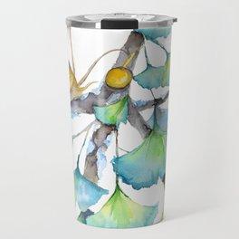 Ginkgo and A Snail Travel Mug